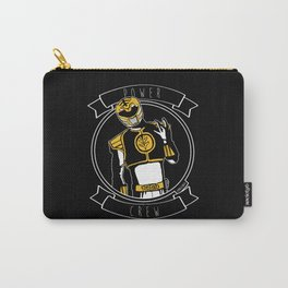 Power Crew White Ranger by zombieCraig Carry-All Pouch