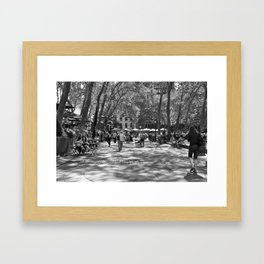 Parc Central Framed Art Print