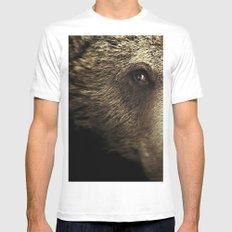 bear White Mens Fitted Tee MEDIUM