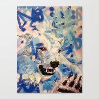 polar bear Canvas Prints featuring Polar Bear by Michael Hammond
