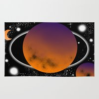 planets Area & Throw Rugs featuring planets by lescapricesdefilles