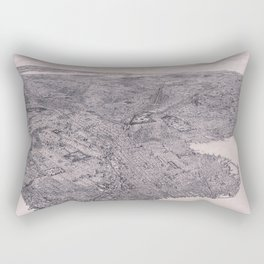 Map Of Brooklyn 1897 Rectangular Pillow