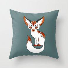Mysterious Fox Throw Pillow