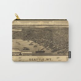 Bird's Eye View of Seattle, Washington (1884) Carry-All Pouch