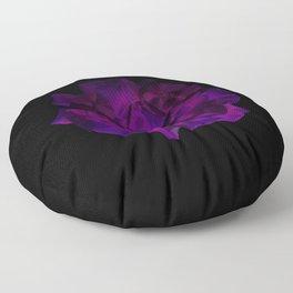Ultra Violet Velvet Rose loves Black Floor Pillow