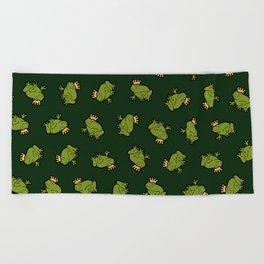 Frog Prince Pattern Beach Towel