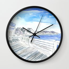 Outer Banks Currituck Sound Promenade Waterfront Wall Clock