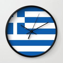 Flag of Greece Wall Clock