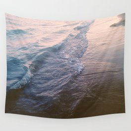 Sunset waves Wall Tapestry