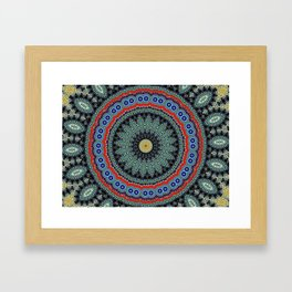 Lovely Healing Mandalas in Brilliant Colors: Black, Wheat, Slate Gray Red and Purple Framed Art Print