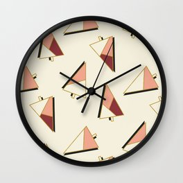 Xmas Trees Pattern #society6 #decor #xmas Wall Clock