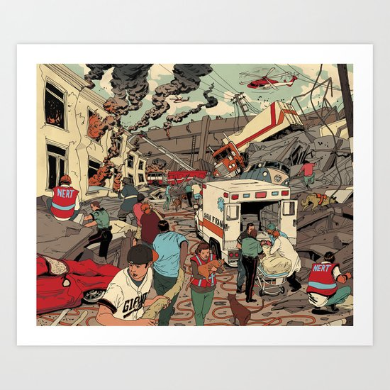 Disaster Scene Art Print