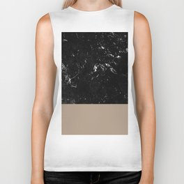 Sepia Meets Black Marble #1 #decor #art #society6 Biker Tank