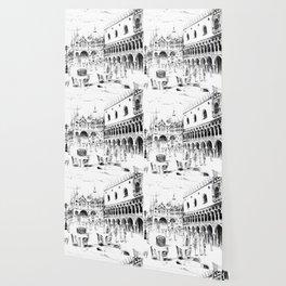 Sketch of San Marco Square in Venice Wallpaper