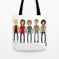 cargline Tote Bags featuring Christmas Sweaters by cargline
