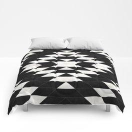 Urban Tribal Pattern 14 - Aztec - Black Concrete Comforters