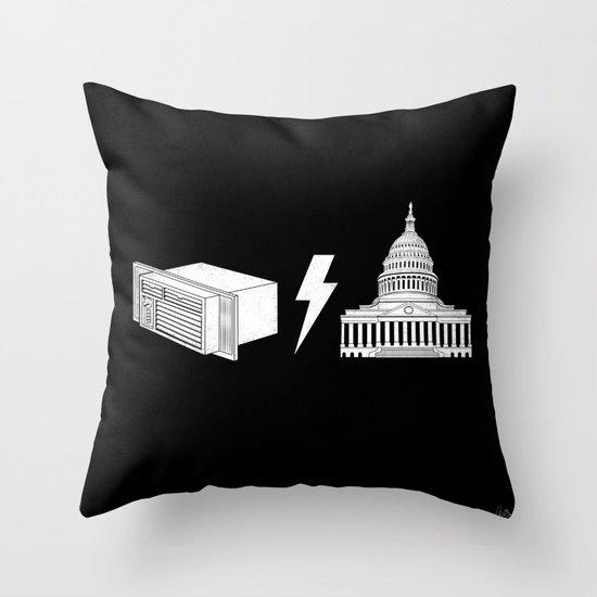Literal AC/DC Throw Pillow