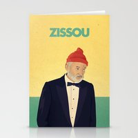steve zissou Stationery Cards featuring Zissou by Perry Misloski