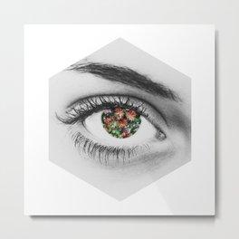 Flowering Eye Metal Print