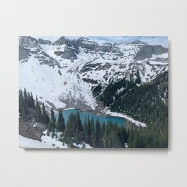 Lower Blue Lake From Above - Telluride, Colorado Metal Print