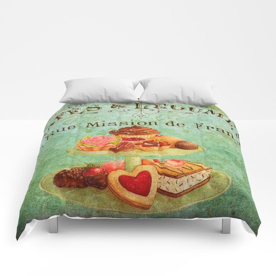 Sweets Vintage Poster 04 Comforters