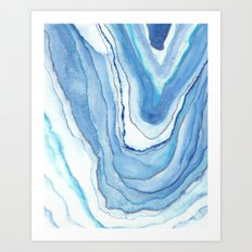 Agate Watercolor 12 Art Print