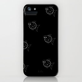 Black Balloon Fish iPhone Case