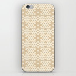 Stars and Hexagons Pattern - Sahara Sand iPhone Skin