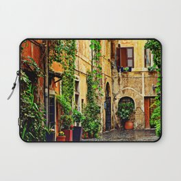 Vintage street in Rome, after Rain Laptop Sleeve