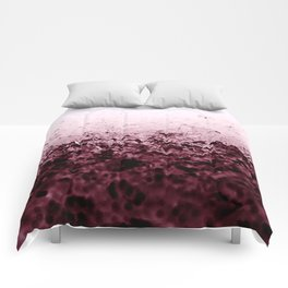 Burgundy CrYSTALS Ombre Gradient Comforters
