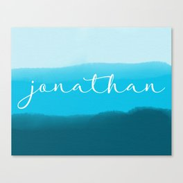 Watercolor Name Canvas Print