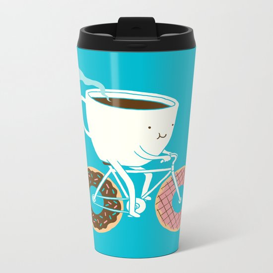 Coffee and Donuts Metal Travel Mug