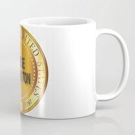 George Washington Gold Metal Stamp Coffee Mug