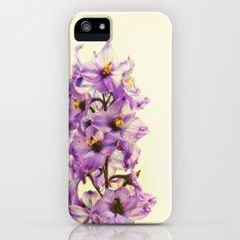 Purple Larkspur Delphinium Flowers iPhone Case