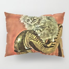 Music was my first love - a cat and harp Pillow Sham