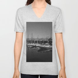 Boats At Fishermans Wharf San Francisco Unisex V-Neck