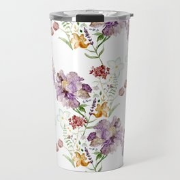 Rural Floral Pattern Spaced Out Travel Mug