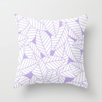Leaves in Lavender Throw Pillow