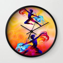 Ballet dancer, fitness, aerobics Wall Clock