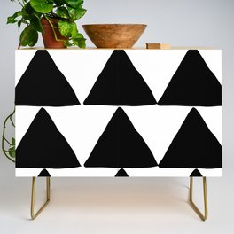 Mountains - Black and White Triangles Credenza