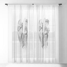 Weeping angel - Doctor Who Sheer Curtain
