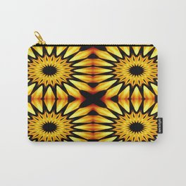 Gold Pinwheel Flowers Carry-All Pouch