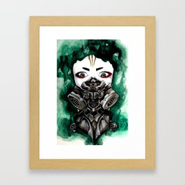 Cyberpunk Kyoshi Warrior Framed Art Print