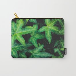 green ivy leaves garden background Carry-All Pouch