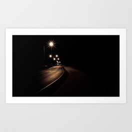Night Road Art Print