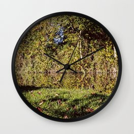 Autumn Oxford Canal Reflections Wall Clock