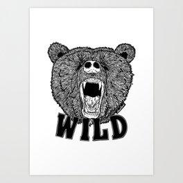 Bear Wild Art Print