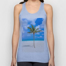Tropical Island, Palm Tree Unisex Tank Top