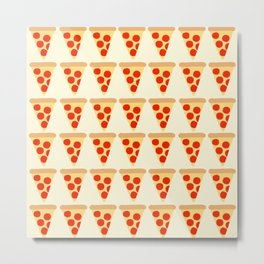 Pizza Slices Pattern Metal Print