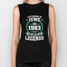June 1983 The Birth Of Legends Biker Tank